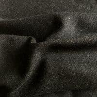 Luxury Wool Blend TWEED Fabric Material - NT58 BLACK